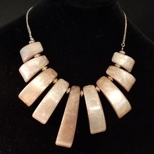 Taupe and Gold Necklace